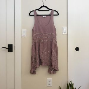 Free People Voile and Lace Trapeze Swing Dress